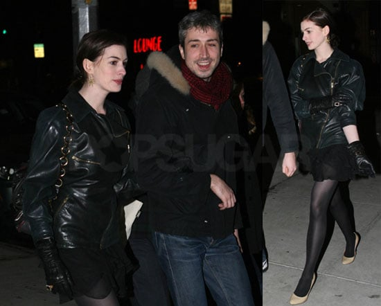 Photos of Oscar Nominee Anne Hathaway Out in NYC