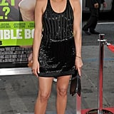 Jennifer Aniston wore an ultraembellished LBD — with a sporty racerback twist — at the Horrible Bosses premiere in 2011.