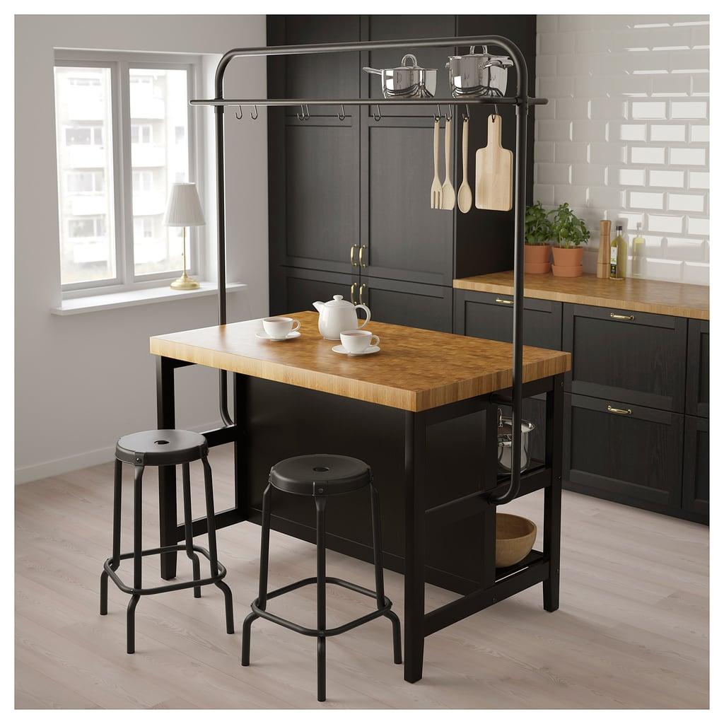 Vadholma Kitchen Island With Rack | Best Ikea Kitchen ...