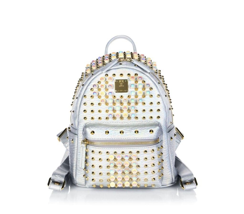 e781a45e8e3 MCM Stark Pearl Studded Metallic Leather Mini Backpack | Cute ...