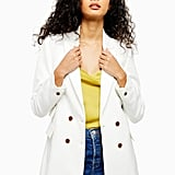 Topshop Ivory Double Breasted Jacket