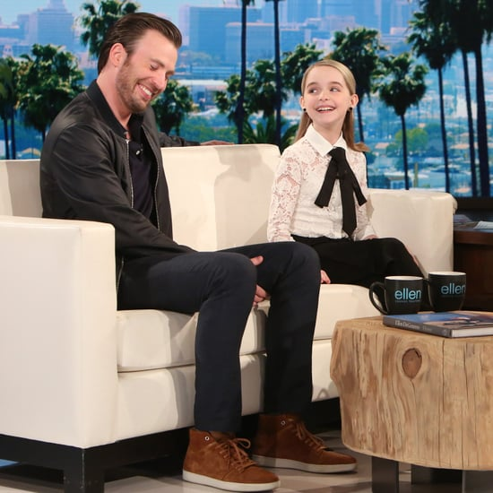 Chris Evans on The Ellen DeGeneres Show April 2017