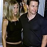 Jennifer posed with Mark Wahlberg at the September 2011 premiere of Rock Star in LA.