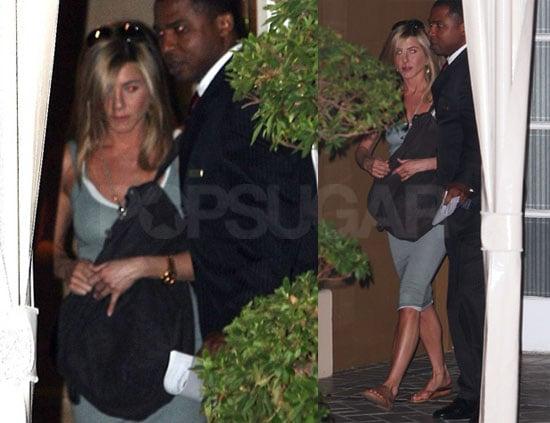 Photos of Jennifer Aniston Leaving the Four Season in LA