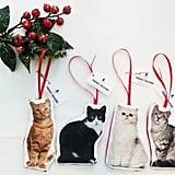 Stuffed Cat Christmas Ornament