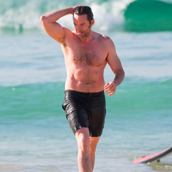 Hugh Jackman at the Beach in Australia Dec. 2016