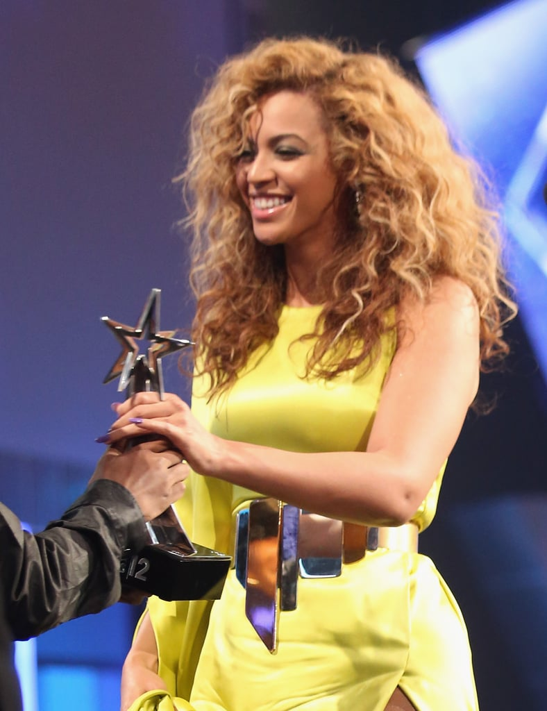 Beyonce Knowles accepted her best female R&B artist award at the BET Awards.