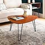 Walnut Hairpin Leg Wood Coffee Table
