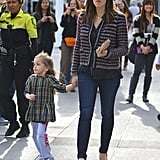 Jennifer Garner and Seraphina Affleck were hand in hand on the way to a show in LA.