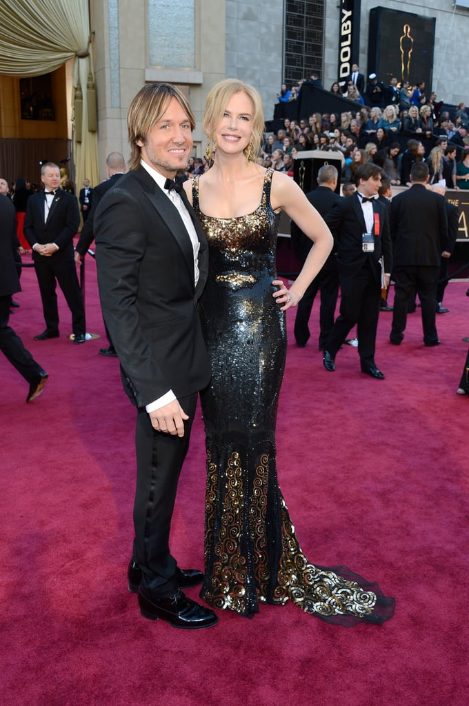 Keith and Nicole stayed close on the Oscars red carpet in Feb. 2013.