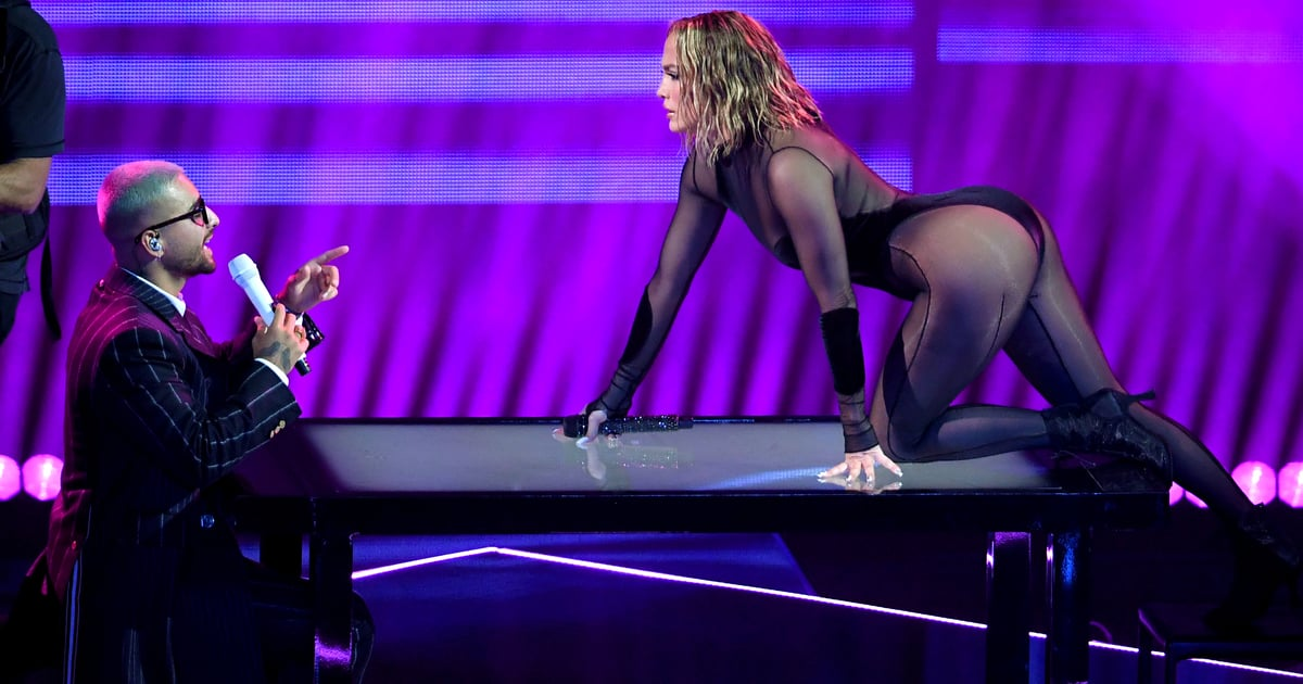 There Aren't Enough Fire Emoji to Describe Maluma and J Lo's Steamy AMAs Performance