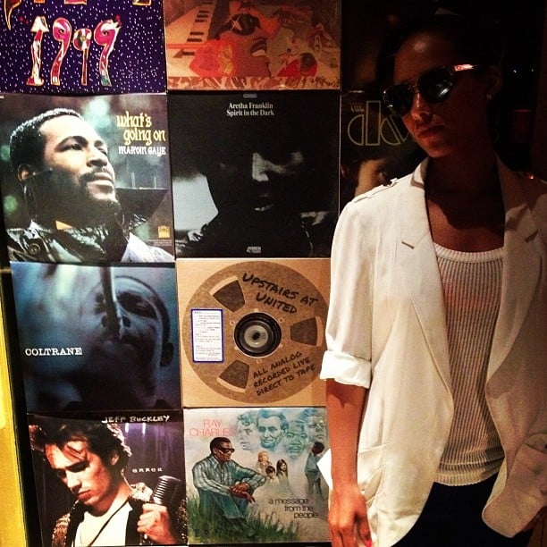 Alicia Keys shared a photo from the recording studio. Source: Instagram user aliciakeys