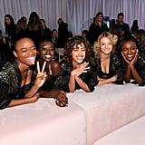 Pictured: Mayowa Nicholas, Subah Koj, Alanna Arrington, Willow Hand, and Leomie Anderson