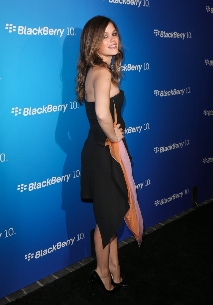 Rachel Bilson in Black Dior Dress