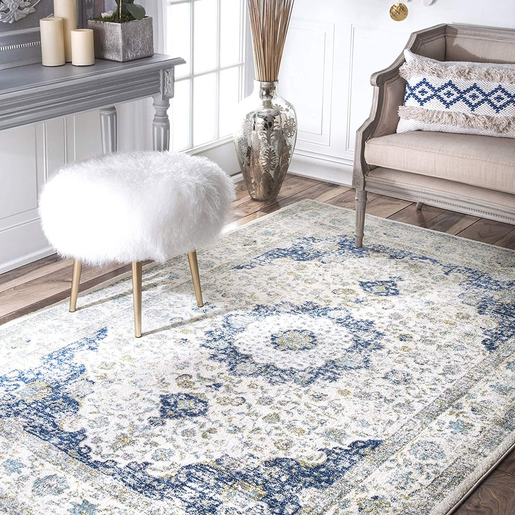 Nuloom Traditional Persian Vintage Blue Rug