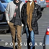 Evan Rachel Wood and Jamie Bell happily walked to their grocery store.