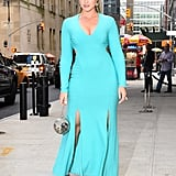 Opting For a Double-Slit Dress by Christian Siriano