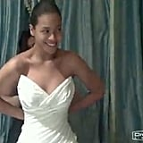 "Beyoncé Knowles shared a photo of her wedding dress from her April 2008 wedding to JAY-Z in her 2011 ""I Was Here"" video."