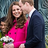 Kate and Prince William couldn't help but make each other laugh while visiting London's Stephen Lawrence Centre in March.