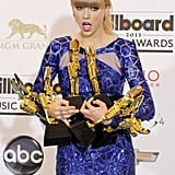 She was more than a little shocked to have received so many Billboard Music Awards at the ceremony in May 2013.