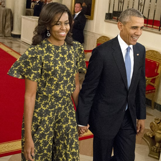 Michelle Obama Wearing a Michael Kors Dress