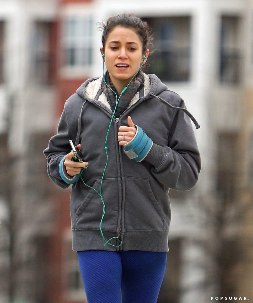 Nikki Reed Shows Engagement Ring While Running