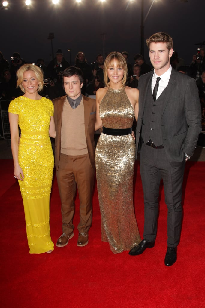 Chris Hemsworth Joins Liam, Jennifer, and Josh at The Hunger Games London Premiere