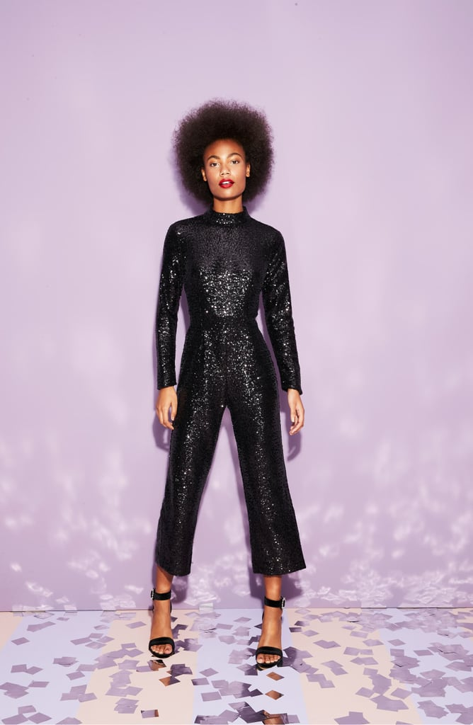 Halogen x Atlantic-Pacific Crop Sequin Jumpsuit