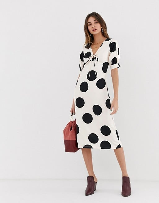 5003b6fdce Lost Ink Polka Dot Midi Dress | Best Memorial Day Sales and Deals ...
