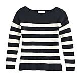 POPSUGAR Striped Oversized Boatneck Sweater