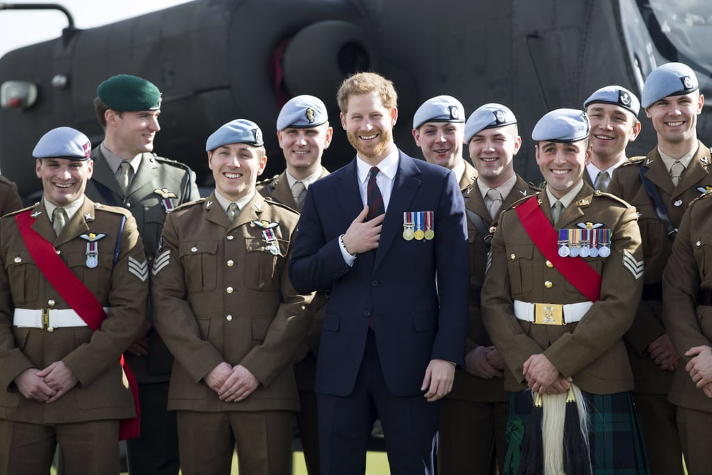Prince Harry made a sweet return to the Army Aviation Centre on Friday. The dashing royal looked in good spirits as he presented graduates from course 17/02 of the Army Air Corps with their wings at the Museum of Army Flying in Middle Wallop, Hampshire. The ceremony marked the final Wings Parade to be held in Middle Wallop, as it will shortly be moving to Shawbury.  The appearance was no doubt nostalgic for the prince. Not only did Harry undertake helicopter training at the centre, but he was also presented with his wings during the same ceremony in 2010. At the time, the presenting officer was none other than his father, Prince Charles. See more photos from his recent appearance, below!       Related:                                                                                                           31 Times Prince Harry Was in Uniform and You Got Weak in the Knees