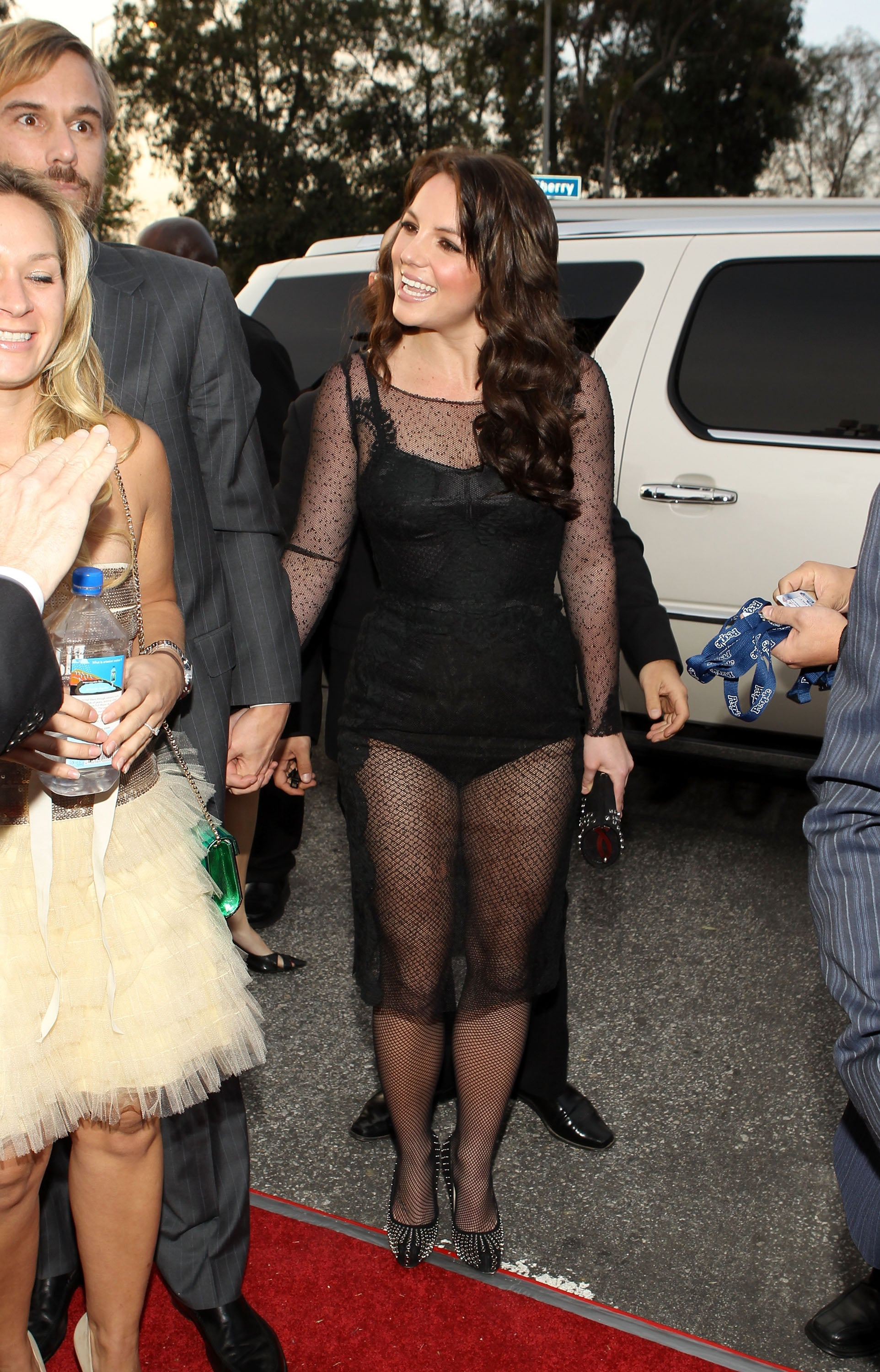 Photos of Britney Spears in Sheer Black Dress at 2010 Grammy ...