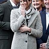 يناير: استهلّت ميغان واجباتها الملكيّة بزيارةٍ إلى محطة إذاعيّة في لندن.
