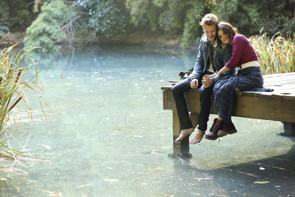 "The new couple heads to a picturesque lake spot in ""Cover For Me."" Source: ABC Family"