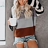 Cordat Color-Block Striped Sweater