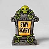 Lit Stay Scary Halloween Tombstone