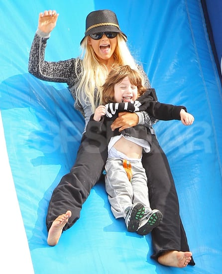 Pictures of Christina Aguilera and Max Bratman at Pumpkin Patch