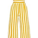 Mustard Stripe Contrast Bandeau Culotte Jumpsuit ($38)