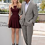 Diane Kruger and Raoul Peck posed in Cannes for the jury photocall.