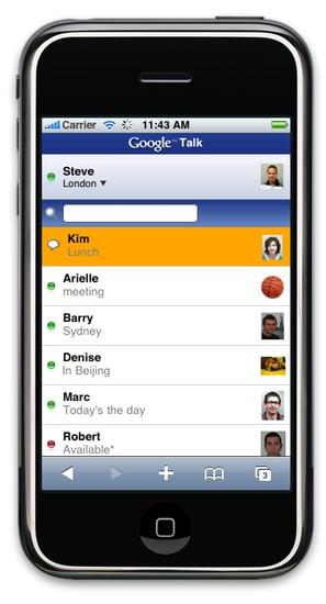 Use Google Talk in Safari on Your iPhone