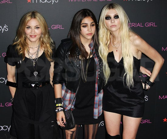 Slide Picture of Madonna, Lourdes, and Taylor Momsen at the Launch of Material Girl in NYC