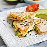 Spinach Avocado Breakfast Quesadilla