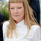 Andrea Arnold wore an all-white emsemble for the jury photocall in Cannes.