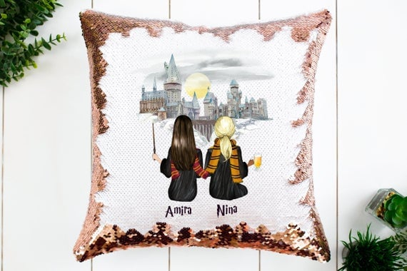 Harry Potter Best Friend Sequin Pillow