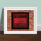 Red Bedroom Records Poster Print