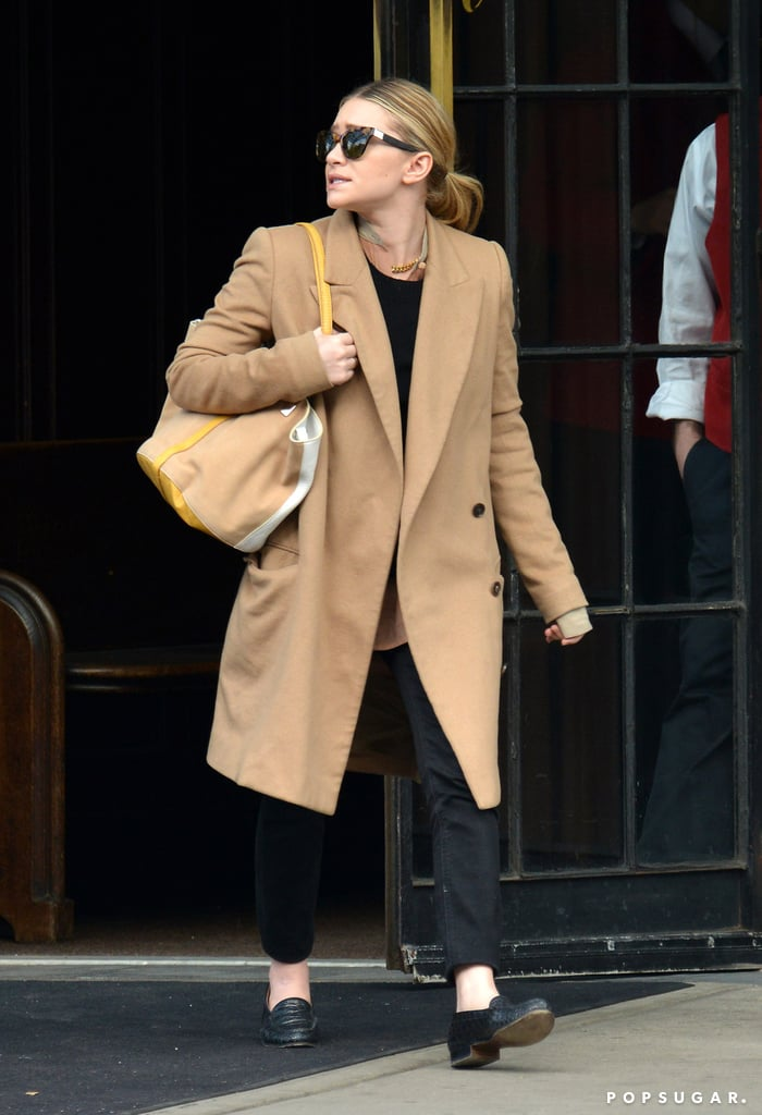 Ashley Olsen made her way through NYC solo on Monday.