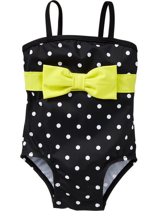 Old Navy Polka Dot Bow-Tie One-Piece