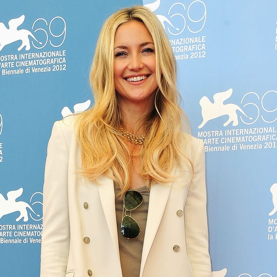 Video: Kate Hudson in White Gucci Suit in Venice 2012