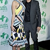 Miranda Kerr wore a bright dress.
