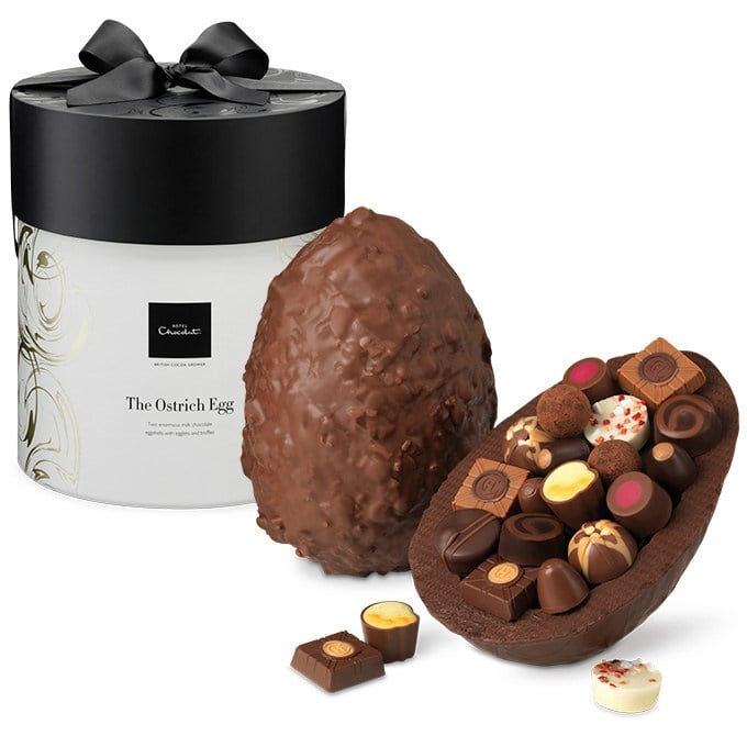 Chocolate ostrich egg from hotel chocolat popsugar food its not even march and the internet is freaking out over this chocolate ostrich egg from hotel chocolat yes its from the uk and yes itll set you negle Gallery